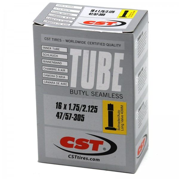 CST Schlauch 16 Zoll Silver 16x1.75-2.125 | 47/57-305 Autoventil 40mm