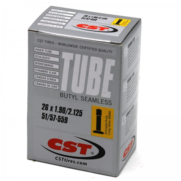 CST Schlauch 26 Zoll Silver 26x1.90 - 2.125 Autoventil 48mm