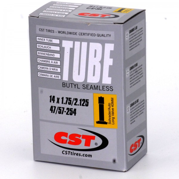 CST Schlauch 14 Zoll Silver 14x1.75 - 2.125 Autoventil 40mm