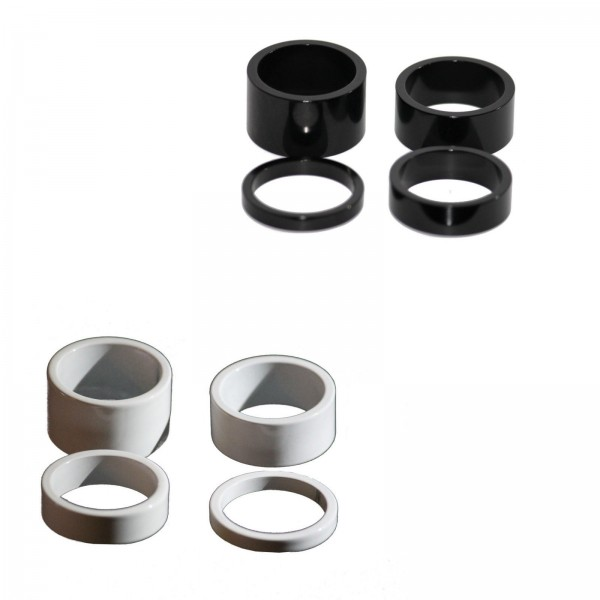 "Alhonga A-Head Spacer Set 1 1/8"" Alu 20mm, 15mm, 10mm, 5mm weiß o. Schwarz"